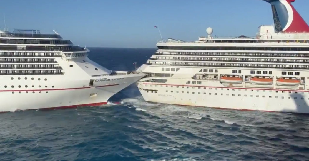 One Carnival Cruise Ship Hits Another, Injuring 6